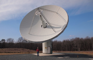 Broadband VLBI prototype antenna at GGAO