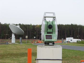 The Robotic Total Station at GGAO that is part of the site's Vector Tie System.