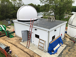 Shelter with installed dome on top at GGAO, Greenbelt, MD.