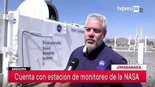 Stephen Merkowitz is interviewed by TVPeru at the Arequipa station