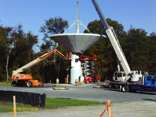 Time-lapse video of VLBI2010 installation at GGAO